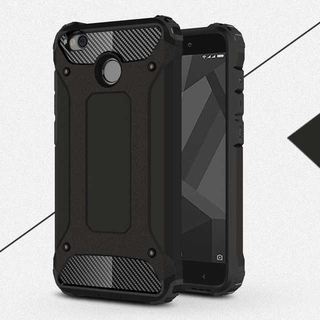 Phone Case untuk Xiaomi Redmi 4X Case Dengan Stand Keras Kasar Dampak untuk Xiaomi Redmi 4X Redmi 4 X Kasus aksesoris