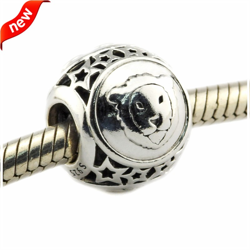 925 Silver Jewelry Beads DIY Fits Pandora Bracelets Charms Leo Star Sign Silver Charm Beads for Jewelry Making Women Gift