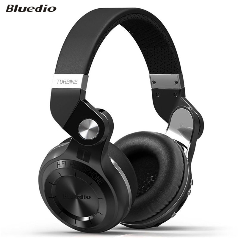 ФОТО Original Bluedio T2+ Fashionable Foldable Over-ear Bluetooth Headphones BT 4.1 Support FM Radio& SD Card Music Control Headset