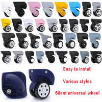 Bagaglio ruota di ricambio Ruote Valigia accessori universale Ruote di rotolamento dei bagagli valigia ruote accessori borse Caster