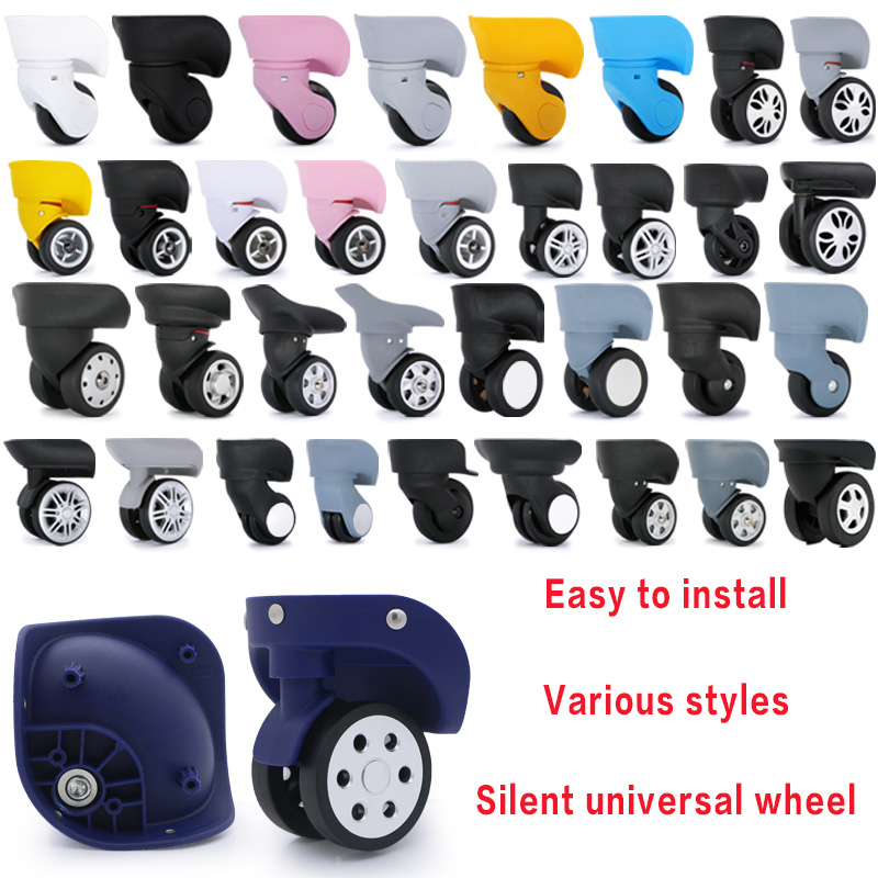 Luggage Wheel Replacement Wheels Suitcase Accessories Universal Casters Rolling Luggage Suitcase Wheeled Accessories Bags Caster