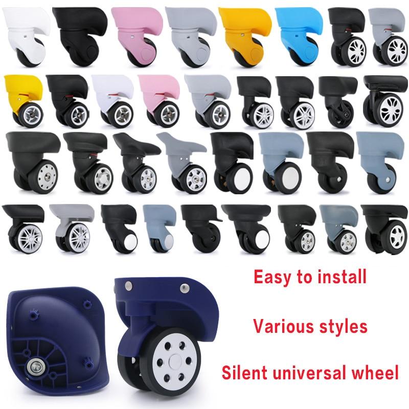Roda de bagagem substituição rodas acessórios mala rodízios universal rolando bagagem mala rodas acessórios sacos rodízio