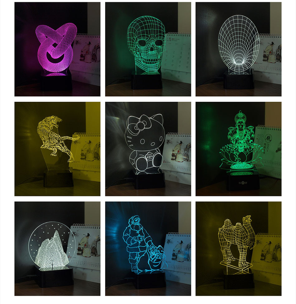 CNHIDEE New Novelty Star Wars BB-8 3D Night Lamp 7 Colors Changeable LED Besides Lampara Reading Lights as Home Decor Desk Lampe (8)