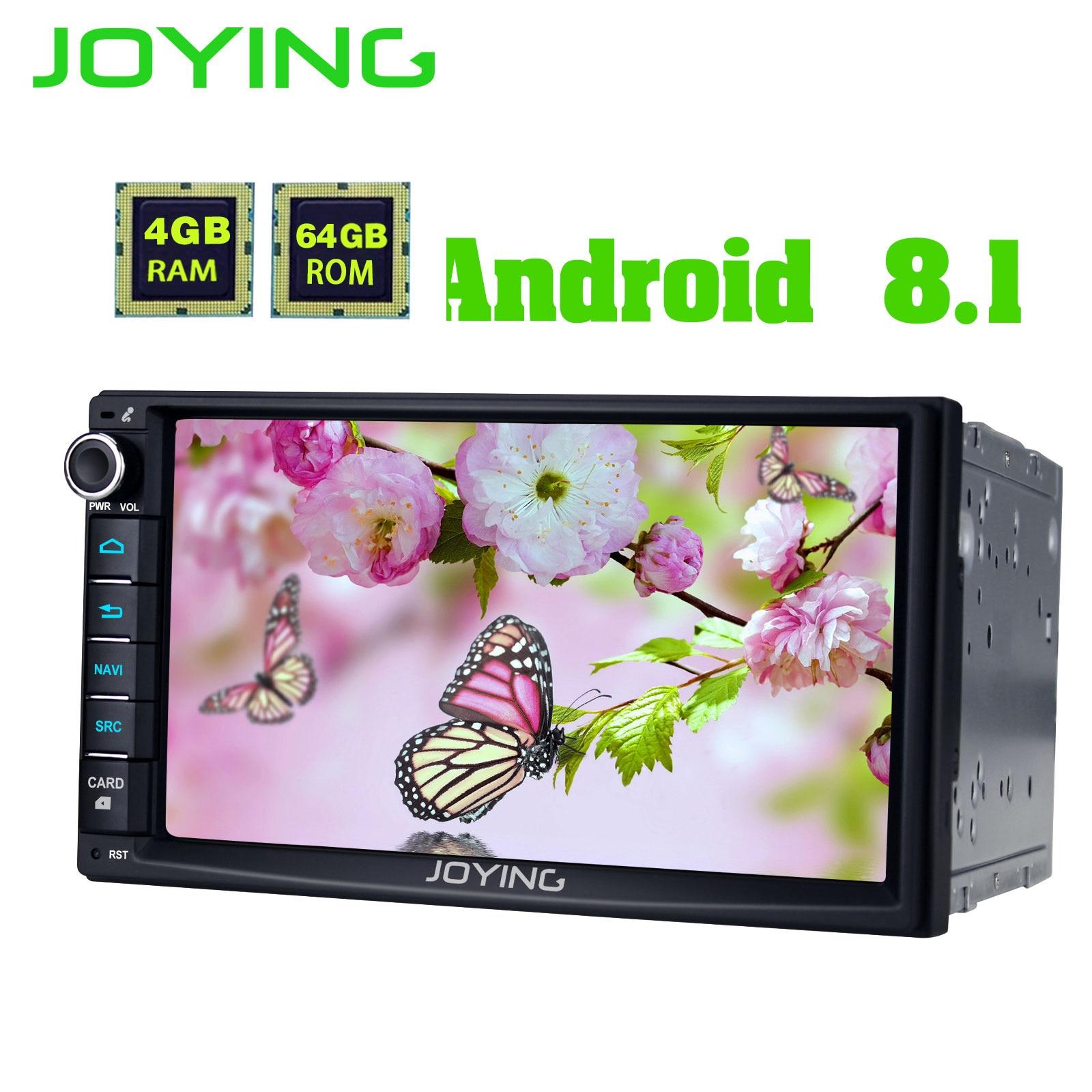 JOYING 2 din car radio autoradio universal 4GB 64GB GPS support SIM Card Android 8 1