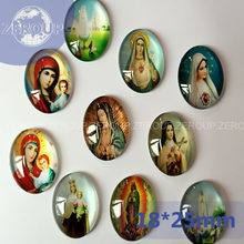 ZEROUP 2 Maten Groothandel Jezus Patroon Foto Oval Glass Dome Cabochon Fit Cameo Instellingen(China)