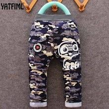 YATFIML 2017 Spring Autumn Fashion baby cotton camouflage long pants Children's clothing Kids boy sport Camo cargo trousers 2-5T