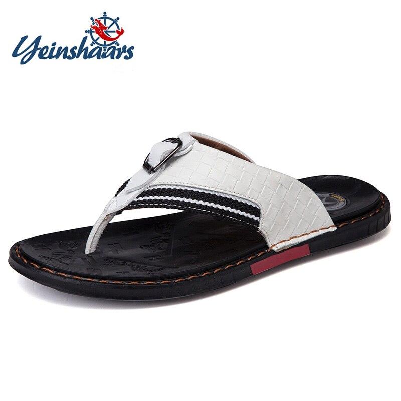 coollight Fashion Mens Summer Flip Flops Rubber Slippers Male Sandals Flat Beach Shoes Man