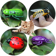 NEW 4 Style Electronic Dog Cat Play Interactive Toys Auto Running Insect Pet Training Toy For Accessories