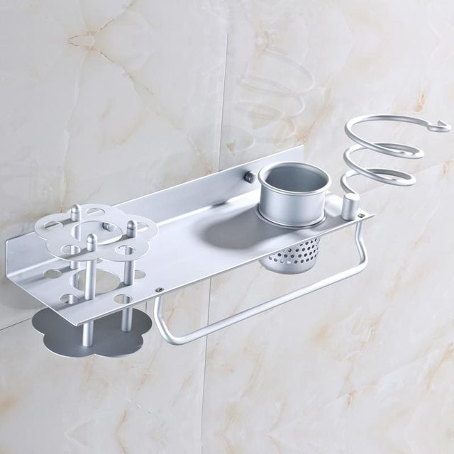Bathroom Hanging Storage Shelves 4 in 1 Wall Mount Towel Rack with ...
