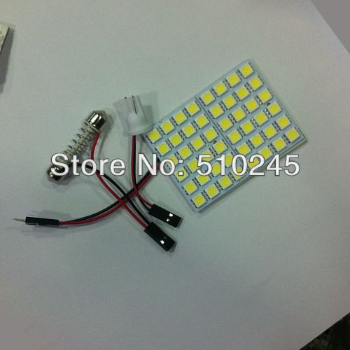 10X Free shipping Car LED reading light panel bulb light 48 led 5050 48smd Light Bulb Lamp +T10 FESTOON CONNECTOR