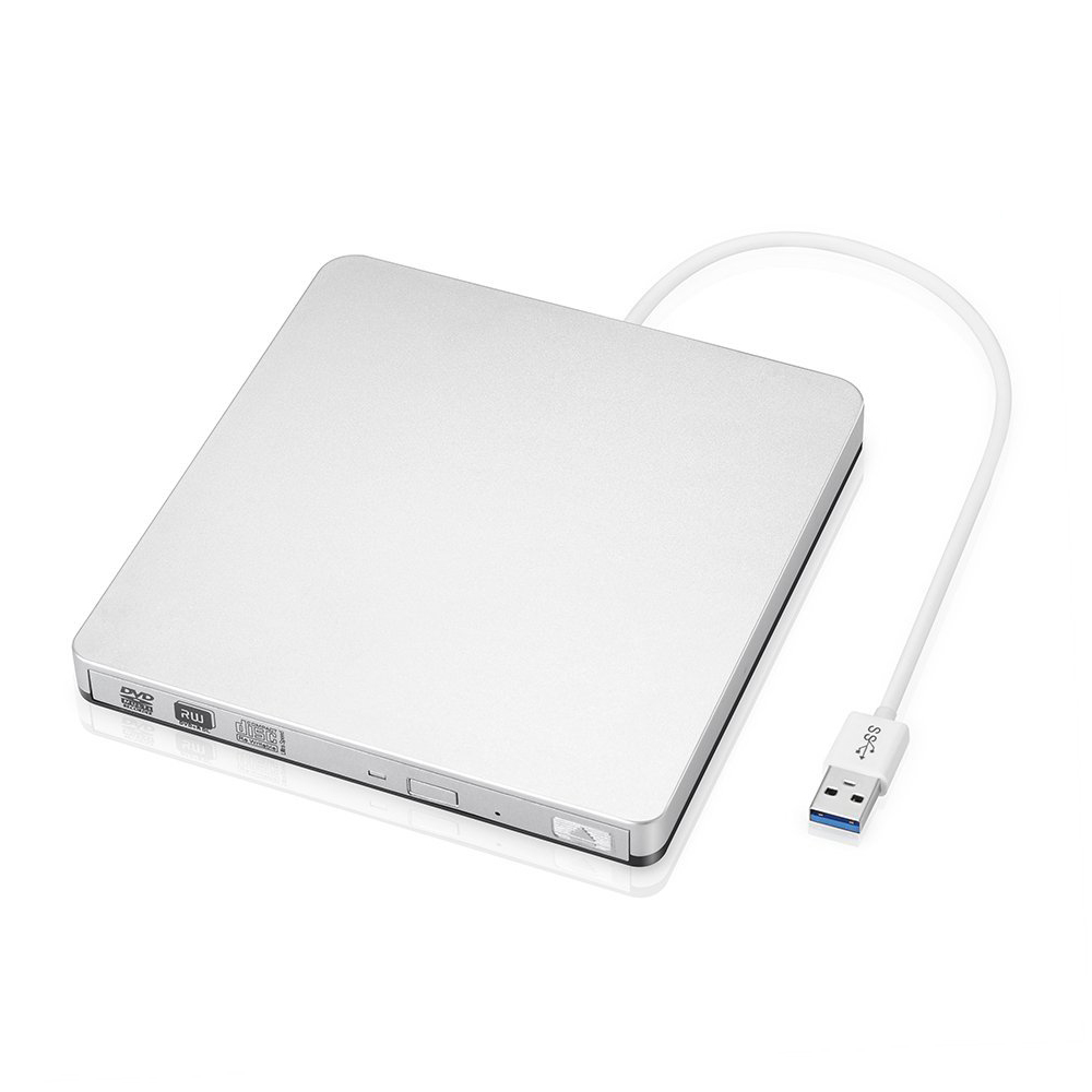 CD / DVD-RW external hard drive for Mac OS or other portable computer / desktop Windows 2000, XP, Vista, 7, 8 with USB 3.0 cable