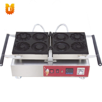 hot sell electrical 3 kinds flower shape circle donuts making machine/doughnut makers