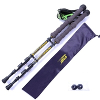 Pair/2pcs Carbon Fiber Trekking Poles Nordic Walking Poles Carbon Trekking Stick Alpenstock Walking Stick For Tourism