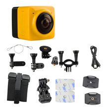 Novo Portátil WIFI HD 1080 p Esporte Action Camera 360 Graus Panorama Panorâmico Da Câmera Mini HD Câmera de Vídeo 3D VR