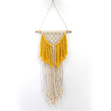 Home hand-woven woven tapestry pendant Bohemian weaving craft cotton line wall hangings home decoration