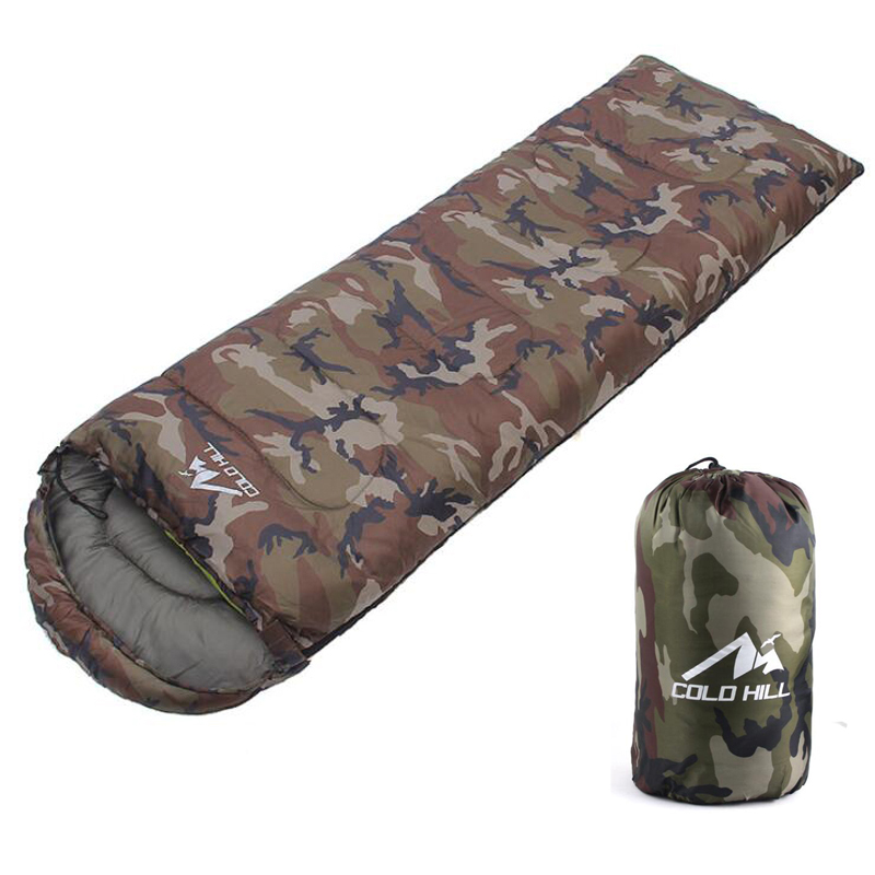 190*75 Envelope Sleeping Bag Camouflage Adult Camping Outdoor Walking Beach Sleeping Bags Lightweight Travel Bag Spring Autumn стоимость
