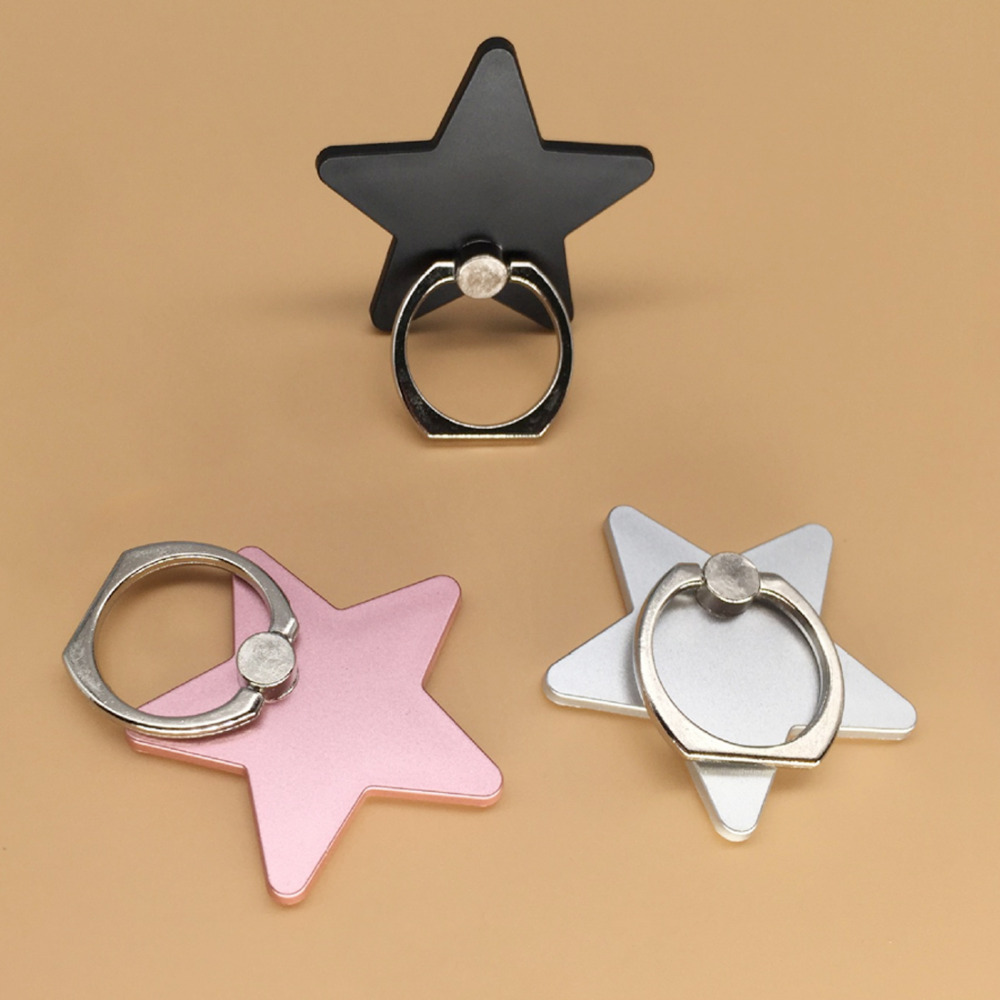 Etmakit Five-pointed Star <font><b>360</b></font> Degree <font><b>Metal</b></font> <font><b>Finger</b></font> <font><b>Ring</b></font> Stand <font><b>Holder</b></font> mobile phone <font><b>holder</b></font> stand For iPhone Xiaomi image