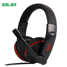 Wholesale Salar A500 Gaming Headset gamer earphones Headphones with microphone deep bass Wired headphone for PC