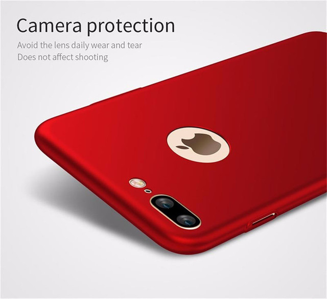 quality design 87841 b27b4 US $860.0 |1200pcs Ultrathin Luxury Hard Back Plastic matte Case red for  iPhone 7 6 6s plus Cases PC Full Cover -in Half-wrapped Case from  Cellphones ...