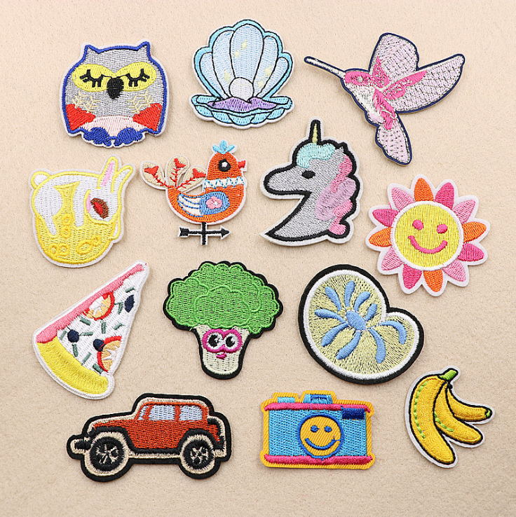 New Arrival 10 Pcs Banana Sun Owl Embroidered Cartoon Patches Iron On Jeans Coat Tshirt Bag Shoe Hat Motif Emblem Accessory Diy Patches