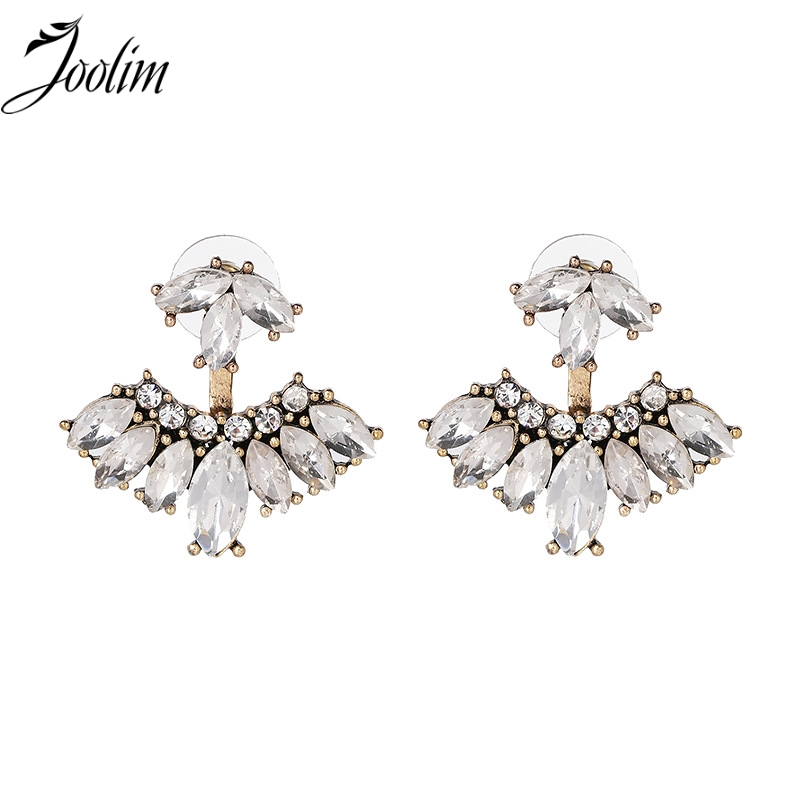 Joolim Perhiasan Grosir / New Crystal Clear Blue Pave Convertible Jaket Earring Pierced Earring g Fashion