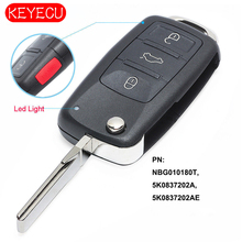 Reemplazo KEYECU llave remota 315MHz ID48 para Volkswagen GTI Jetta Eos Golf 2013 2018 P/N: NBG010180T, 5K0837202A, 5K0837202AE