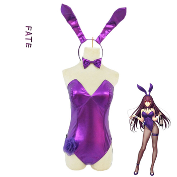 Anime! Fate/Grand Order Scathach Bartender Bunny Girls Sexy Bodysuit Lovely Rabbit Ears Uniform Cosplay Costume Free Shipping 1