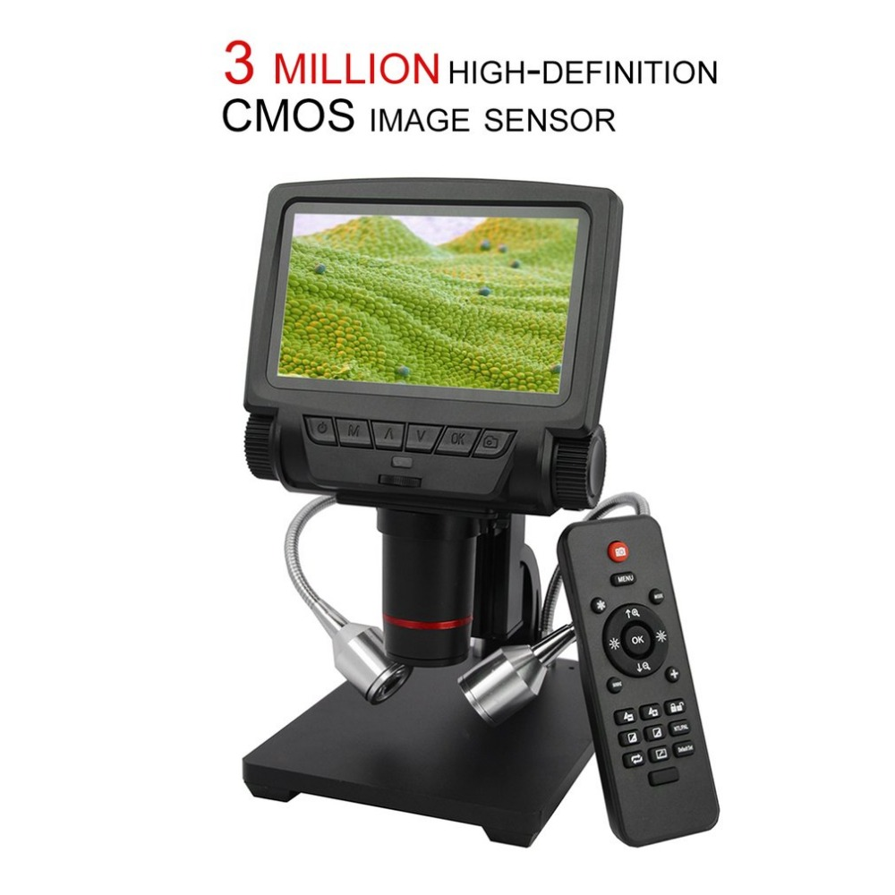 Professional 5 Inch Screen Digital Microscope Metal Stand HDMI Microscope For Mobile Phone Repair Soldering Tools