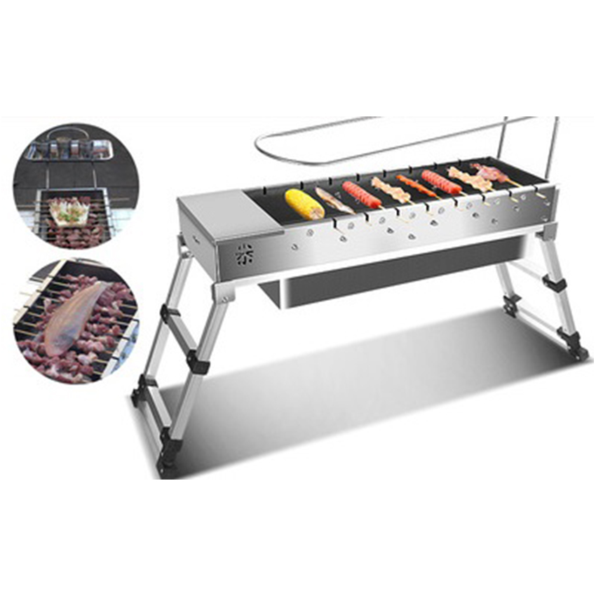 Stainless Steel Foldable BBQ Grill USB Electric Charcoal Grill Automatic Flip Barbecue Stove for Outdoor Picnic Home Garden Part-in BBQ Grills from Home & Garden    3