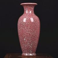 Аутентичные Yuzhou фарфор, старинная ваза фарфор Специальное предложение лист ice Современная высокого класса подарок Фарфоровые Гуаньинь бут