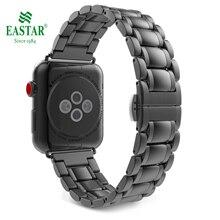 Eastar paslanmaz çelik şerit için Apple saat bandı 42mm 38mm 44mm 40mm yedek Watchband iWatch için 5/4/3/2/1 aksesuarları