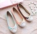 Freeshipping Best Selling Alta Qualidade das Patentes de Couro Dedo Do Pé Redondo Bowknot Design Plano Simgle Shoes Plus Size Mulheres Sapatos V051-1