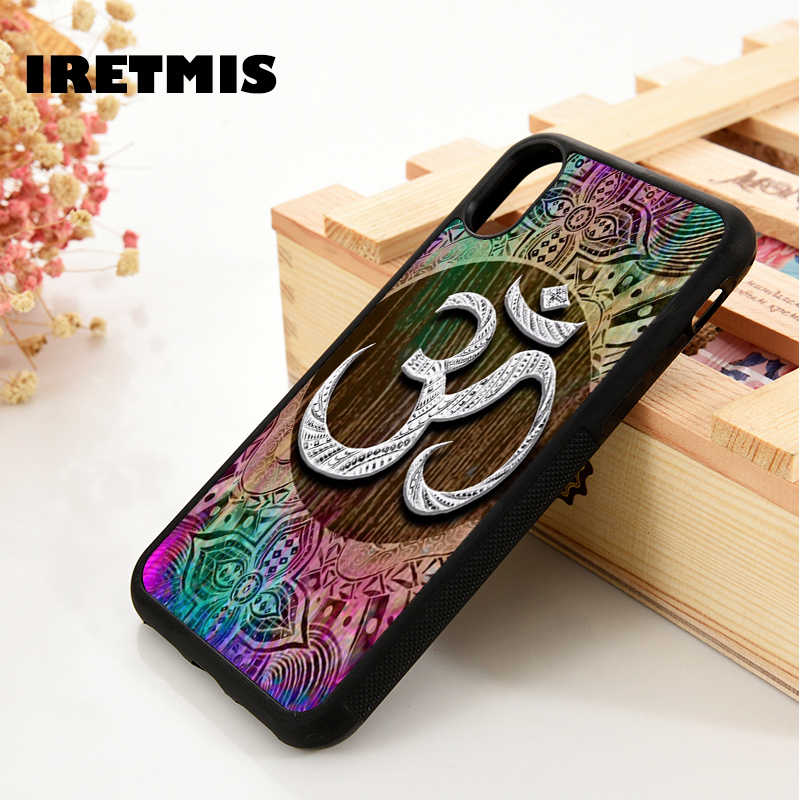 Detail Feedback Questions about Iretmis 5 5S SE 6 6S Soft Silicone phone  case cover for iPhone 7 8 plus X Xs Max XR Aum om Namaste symbol floral zen  yoga ... 48efe14e34c7
