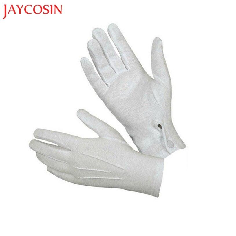 JAYCOSIN 1Pair White Formal Gloves Tuxedo Honor Guard Male Unisex Inspection Gloves Women Men White Formal Gloves Feb 2
