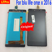 LTPro Original New Black For blu life one x 2016 LCD Display + Touch Screen Digitizer Assembly For blu Mobile Phone parts