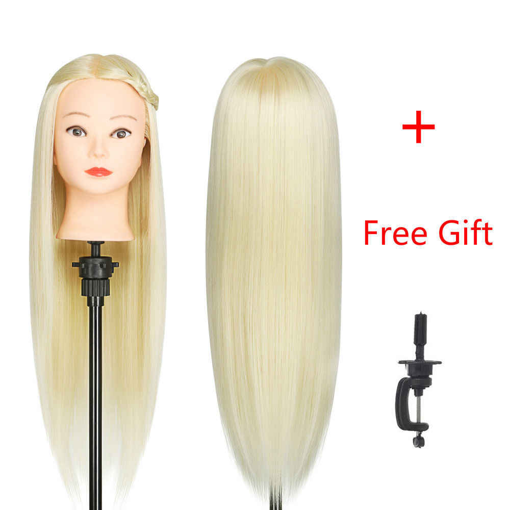 55 cm 70% Real Human Hair Salon Training Hoofd Kappers Styling Mannequin Pop