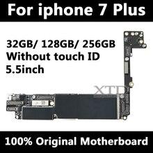 Для Apple iphone 7 plus материнская плата без Touch ID, оригинальная разблокированная для iphone 7 plus материнская плата с чипами, хорошо протестирована 32G/128G/256G