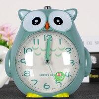 Analog Cartoon Owl Shaped Alarm Clock with Light and Snooze Quartz Backlight LOUD Wake for Children Birthday Gift