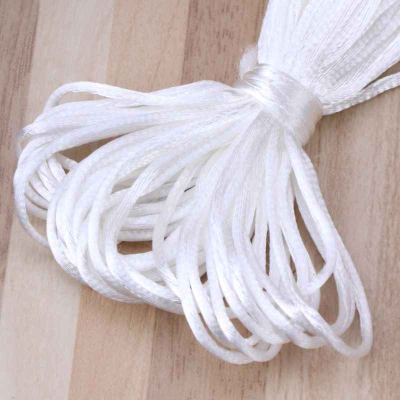 New Baby Pacifiers Accessories 5m Satin Silk Rope 1.5mm Nylon Cord for Baby Mom Jewelry Making Teething Necklace Rattail Cord