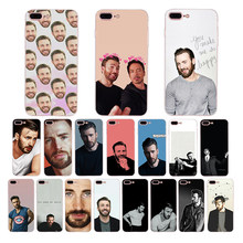 Chris Evans Marvel Captain America Soft Cover UNTUK iPhone X Case XS Max XR 6 Plus 6 S 6 tritone 5 5 S SE 7 8 8 PLUS 7 Plus Funda(China)
