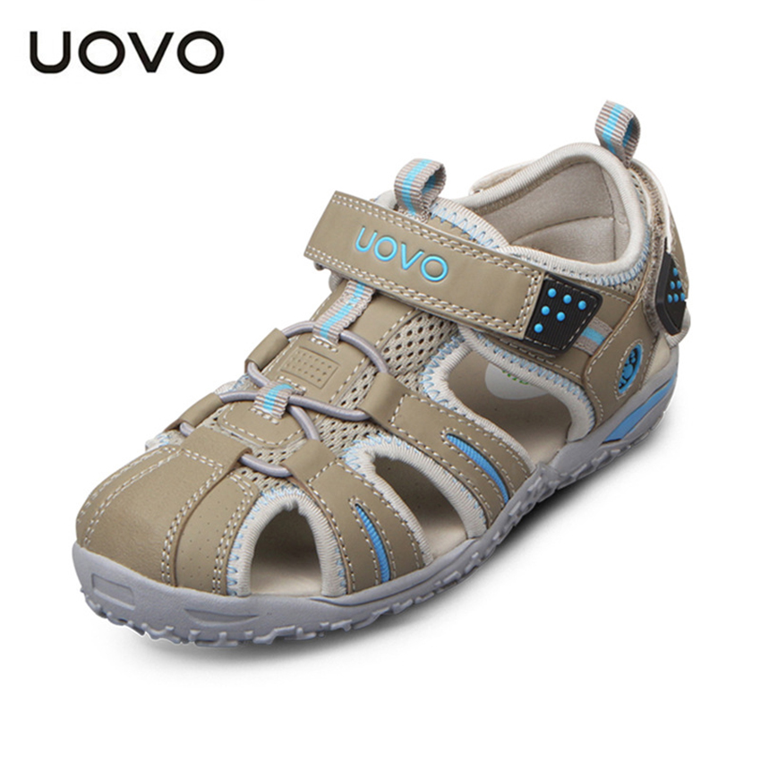 UOVO 2017 New Summer Beach Kids Shoes Closed Toe Sandals For Boys And Girls Designer Toddler