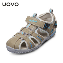 Uovo 2017 nouvelle plage d'été enfants chaussures fermé orteils sandales pour garçons et Filles Bambin Concepteur Sandales Pour 4-15 Ans Enfants