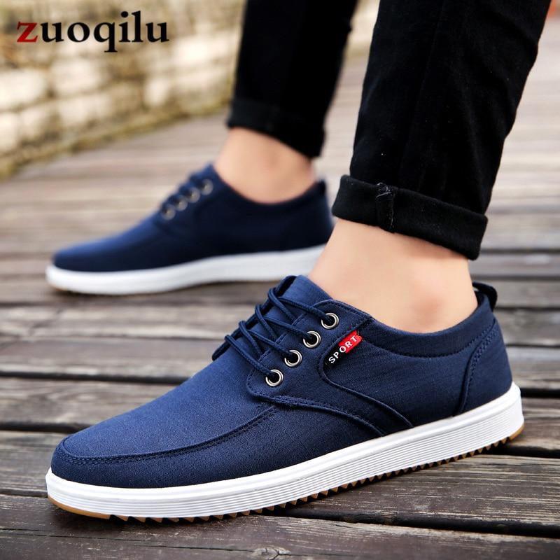 Men Casual Shoes 2019 Summer Canvas Shoes Men Breathable Casual Canvas Men Shoes Walking Men Shoes Chaussure Homme Factory sales 2