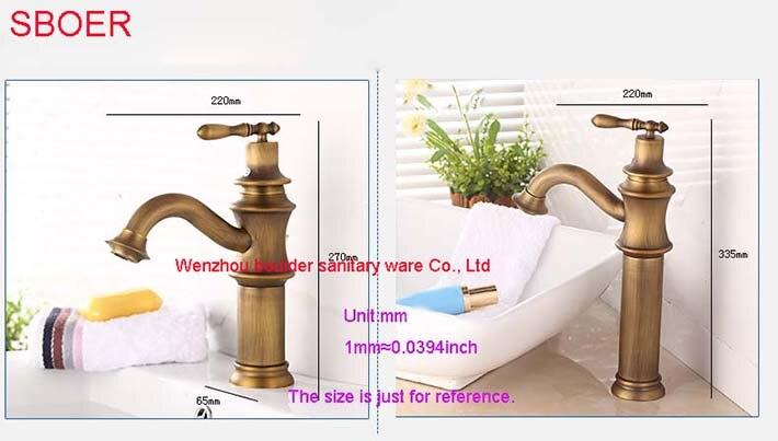 Klassieke europese stijl antieke vintage soild messing sink enkel