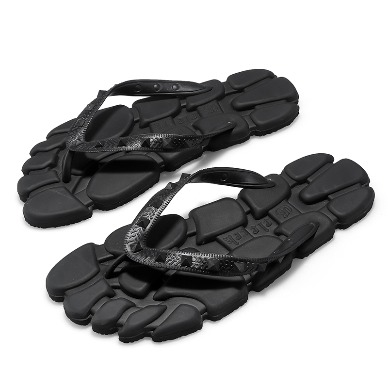 New Summer Flip-flops, Black Flip-flops, Simple Fashion Slippers, Men's Personality Slippers, Fashionable Men's Slippers