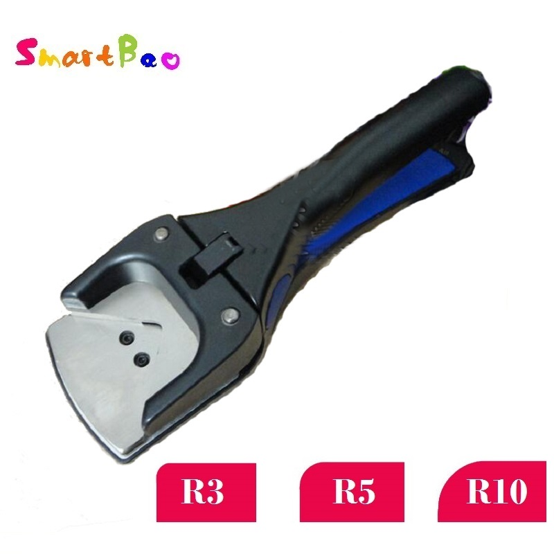 R3/R5/R10 Sudut Lubang Punch Besar Lencana Slot Pukulan Corner Bulat Punch Cutter untuk PVC Kartu tag Foto; Tugas Berat Clipper