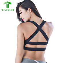 TIMSOAR Mesh Yoga Bra Fitness Women Running Tank Top Quick Dry Exercise Workout Sports Bra Breathable Clothing For Women