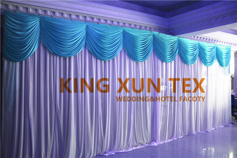 White And Tiffany Color Wedding Backdrop Drape Include Pipe Stand Factory Price Free Shipping