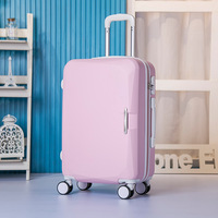 New 26 inch ABS rod box universal wheel suitcases children boarding students box multicolor pure color suitcase 1580#