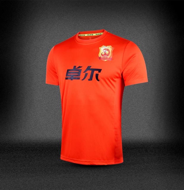 605aaaa30fb Top Thai 2015-16 China WUHAN ZULL F.C. Club soccer jerseys men Home Orange  S-XL Football team short shirt Chinese Super League
